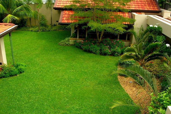 House of green completed gardens aslam o 2 17 garden for Home landscape design sri lanka